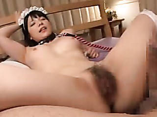 hot asian maid with