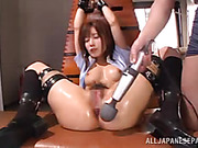 sexy little japanese slut tied up while taking moaning loudly