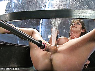 big-boobied lass squirts during