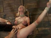 big, bondage, tanned, tits