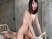 slutty japane school girl gets her tiny pussy eaten and screwed hard