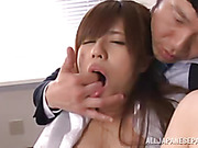 Girl in toilet goes down in front of a guy that films everything in POV