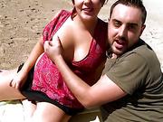 beach, hardcore, spanish, tits
