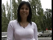 Rauchy raven haired MILF is ready for some outdoors banging