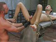blindfolded stud bondage gets