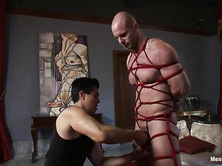 inked gagged hunk bondage