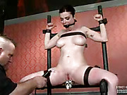 black, bondage, boobs, pussy