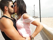 Lusty brunette gets her moist pussy drilled by thick dick of a horny dude
