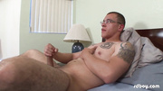 pumped fella strips his