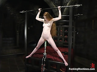 pale redhead bitch gets