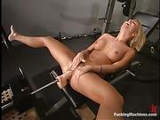 butt, fucking machines, nipples, pussy