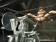 chained blonde whore the