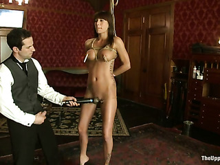two petite brunettes stockings