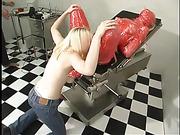 blonde slut gets wrapped