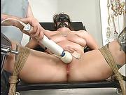 bondage, breasts, office