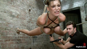 brunette bitch bondage sucks