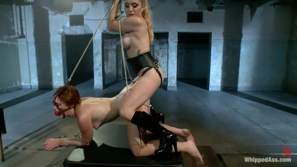Cuffed whipped and toyed blonde 4