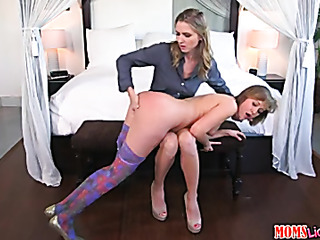 Tied up brunette gets her pussy fingered 6