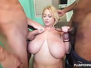 bbw, bedroom, milf, threesome