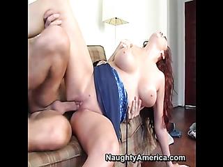 raunchy redhead slut seduces