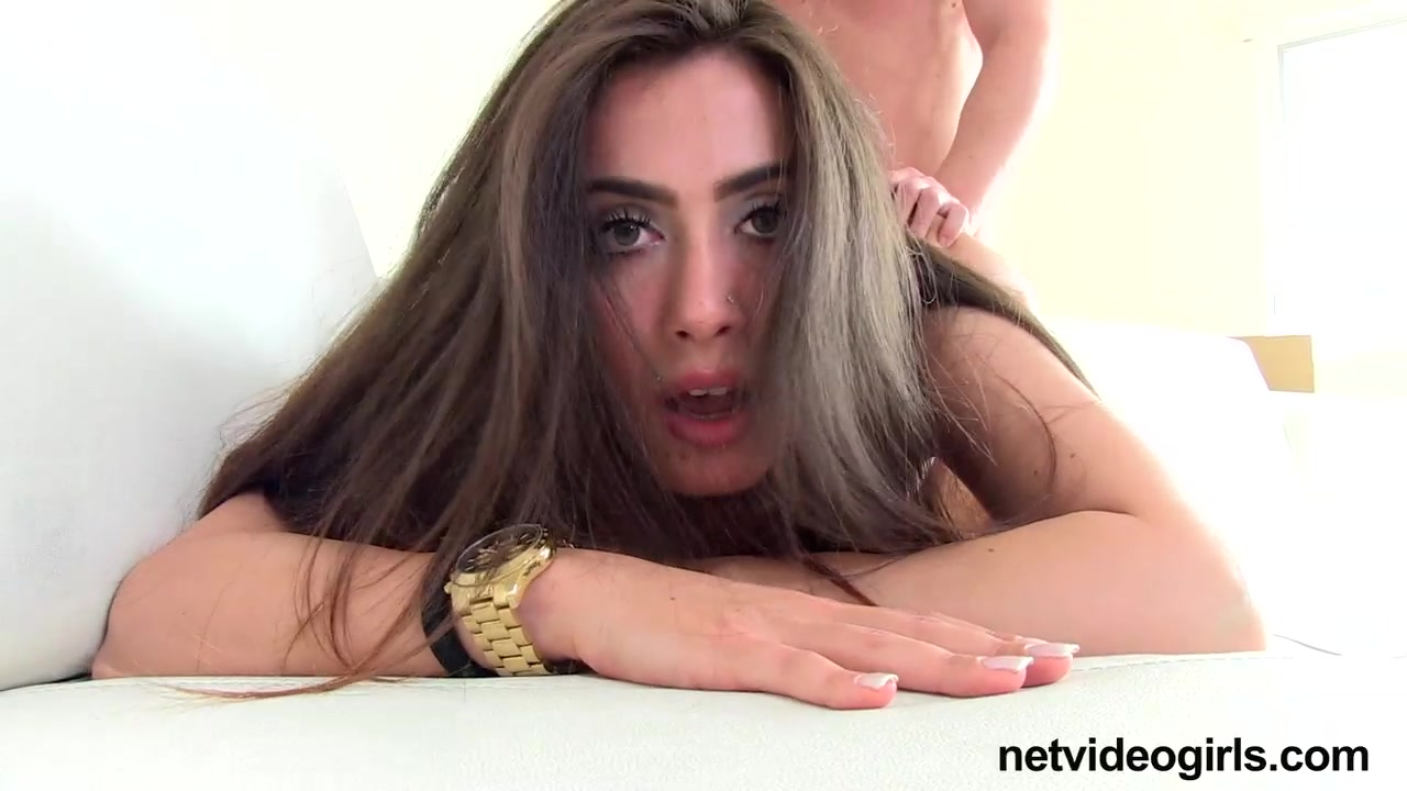 Brunette Cum Slut Gets Her Pussy Stretched Out And Her Pierced Tongue Tickled