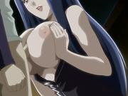 blue haired anime slut
