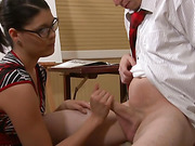 sexy girl glasses gives