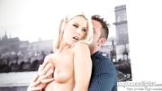 alluring blonde getting her