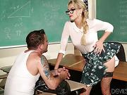 blonde, hardcore, student, teacher