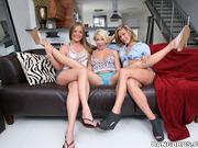 blonde, lesbian, threesome, tits