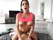 brunette, hardcore, nipples, pierced nipples