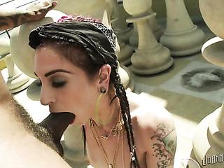 this tattooed slut gets