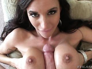 gorgeous brunette slut lays