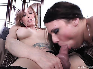 hot brunette slut gives
