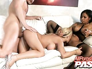 white blonde helping her