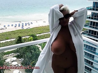 vacation footage showing busty