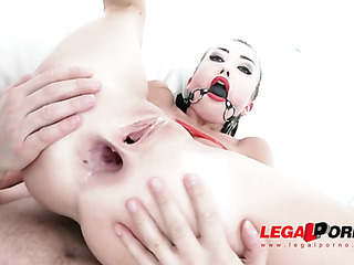 submissive asian blonde with