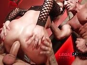 3 guys 1 girl, hardcore, pussy, pussy gape