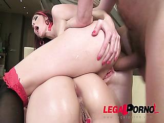 two sluts share cock