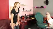 hazel-eyed blonde teen shows