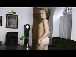white underwear blonde milf