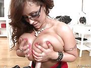 big tits, brunette, cum, tits
