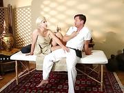 blonde, individual model, massage