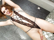 ass, ladyboy, lingerie, shemale