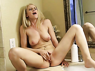 charming blonde pinky nude
