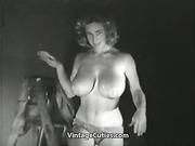 blonde, tits, topless, vintage