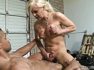 mature blonde shemale with