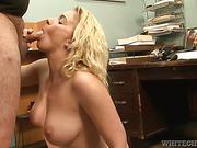 blonde, hardcore, on her knees, sucking