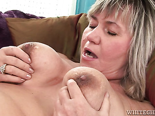 plump granny touching her