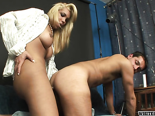 busty blonde shemale white